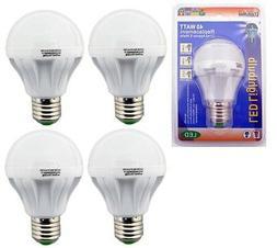 4 Pack 5 Watt LED 110V Light Bulbs = 40 Watt Replacement Ene