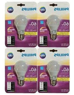 Philips  60w Soft White Light Dimmable LED Light Bulbs Warm