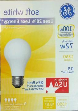 Ge 4-Pack 72-Watt  Med Base Soft White Halogen Light Bulbs