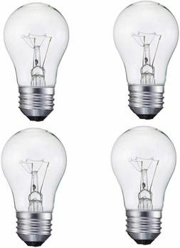 4 Pack A15/CL- 60Watt A15 Incandescent -Appliance Bulb-Clear
