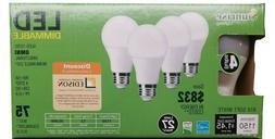 4 pack A19 LED 12W 2700K Warm White Indoor/Outdoor Flood Lig