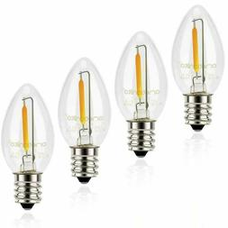 4 Pack  C7 Candelabra LED Night Light Bulbs 2700K E12 Chande