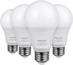 DEWENWILS 4-Pack Dimmable LED A19 Light Bulb 800 Lumen E26 M