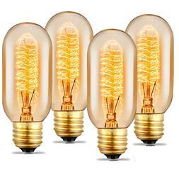 4 Pack Edison Light Bulb Dimmable Vintage Retro Filament 60