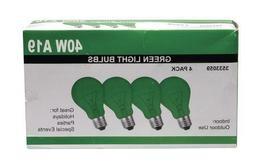GREEN 40W Green Light Bulbs A19 Medium Stanndard Base E26