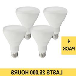 4 Pack LED DIMMABLE BR30 Light Bulbs 11 Watt 25,000 Hours Eq