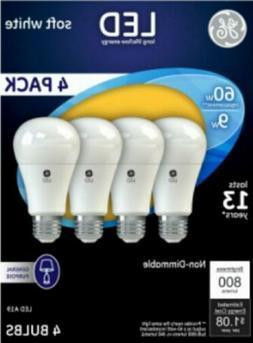 4-Pack GE LED Light Bulb 9w - 60 Watt Replacement Soft White