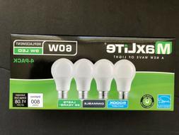 4 pack LED Light Bulbs 60 Watt Equivalent A19 Dimmable Dayli