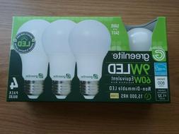 4 Pack LED Light Bulbs GREENLITE 60Watt Equivalent Soft Whit