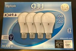 GE 4-pack LED Light Bulbs Daylight 10W - 60W replacement 760