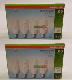 SYLVANIA 4-Pack  Mini Spiral 60-W Equivalent  Natural Daylig
