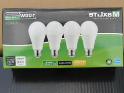4 pack New 100 Watt Equivalent A19 LED Light Bulbs Dimmable