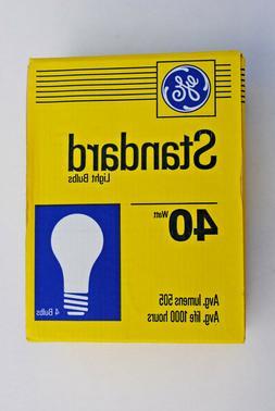 GE 4-Pack of 40-Watt A-19 Standard Inside Frosted Light Bulb