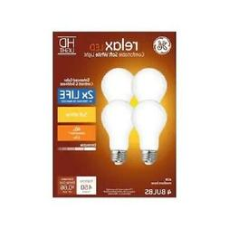 GE 4-PACK RELAX HD Soft White 40W / 40 WATT A19 Dimmable LED