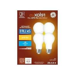 GE 4-Pack RELAX HD Soft White 60W / 60 WATT A19 Dimmable LED