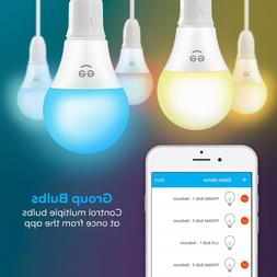 Geeni 4-Pack Smart Wi-Fi LED Color + White Light Bulb Free S