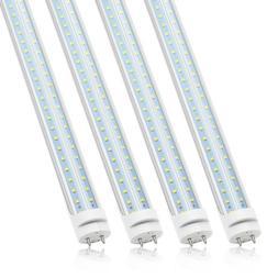 4 Pack JESLED T8 4FT LED Tube Light Bulbs 22W/28W G13 Bi-Pin