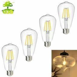 4 Pack Vintage Dimmable LED Edison Bulb 8W Light Base Lamp O