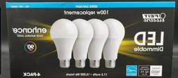 4 pcs 1600 lumen Day Light  LED light bulb 100 Watts Equival