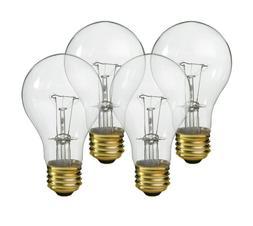 4-PK NEW 60W Watt 120-130V CLEAR Transparent LIGHT BULBS Inc