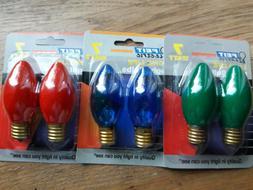 """""""FEIT Electric"""" 4 X GREEN Night Light Bulbs // 7 Watt // 2 S"""