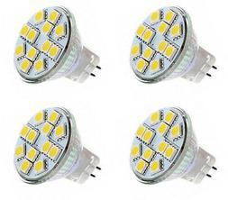 4 X MR11 2.2 Watt LED Cool White 5000K Bi-Pin Light Bulb 12V