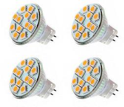 4 X MR11 2.2 Watt LED Warm White 3000K Bi-Pin Light Bulb 12V