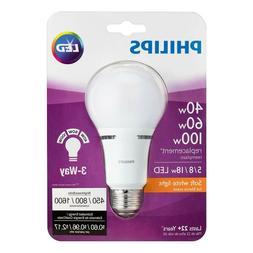 Philips 40/60/100W Watt Equivalent Soft White A21 Medium E26