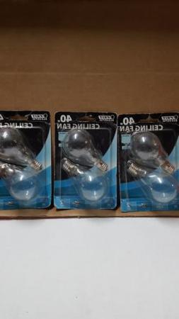 40-Watt Clear A15 Ceiling Fan Light Bulbs w / Intermediate B