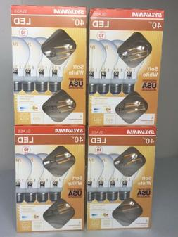 Sylvania 40-Watt Clear Glass A19 LED Light Bulbs w/Standard