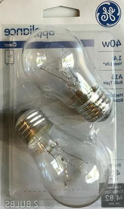 GE 40-Watt Crystal Clear Appliance Light Bulbs with Medium B