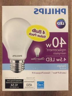Philips 40-Watt Equivalent A19 LED Light Bulb Daylight Class
