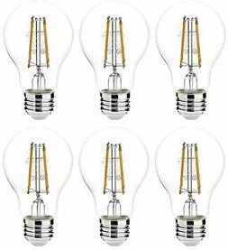 AmazonBasics 40 Watt Equivalent, Clear, Non-Dimmable, A19 LE