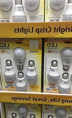 3840 LED Bulbs  Bulk UL Listed A19-E26 9W Wholesale Lumen 80