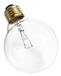 Satco 40G30 Incandescent Globe Light, 40W E26 G30, Clear Bul