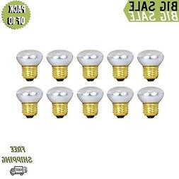 Pack Of 10 40R14 Short Neck 40 Watt E26 Medium Base Reflecto