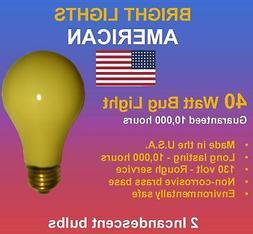 40watt Rough Service, 10k hour, Incandescent Bug Light Bulbs