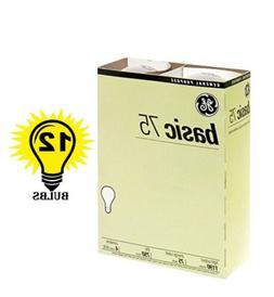GE 41030 Standard Light Incandescent Bulbs E26 Base 75 Watt