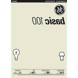 NEW GE 41034 100 Watt 1710-Lumen A19 Light Bulb 4 Bulbs Per