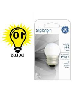 Ge 41267 7.5-watt White S11 1cd Incandescent Night Light Bul