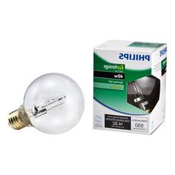 Philips 420844 40-watt G25 Clear Halogen Decorative Globe Li