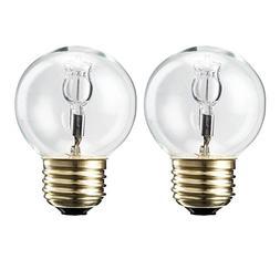 Philips 433565 60 Watt Equivalent Halogen G16.5 Clear Globe