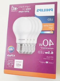 Philips 461145 40W Equivalent Soft White A19 Non-Dimmable LE
