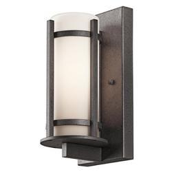 Kichler 49119AVI Camden Outdoor Wall 1-Light, Anvil Iron