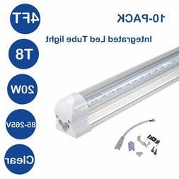 T8 LED Integrated Tube 4FT 20W Tube Light Fixture Bulbs 6500