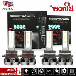 4PCS 9005 9006 mini LED Combo Headlight Kit Bulbs 6000K Whit