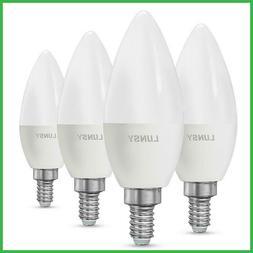 4Pcs E12 Candelabra Base LED Light Bulbs Equivalent 100 Watt
