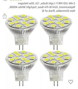 SANSUN 4pk LED 2.4 W 4000K 200 lm Non dimmable A/D 12V GU 4.