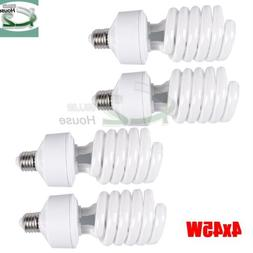 4x 45W 5500K Photo Studio CFL Light Bulbs Daylight Compact