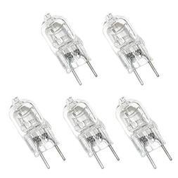 5 Pack, 25W Halogen Bi-Pin Bulb, G8 Base, 110-130 Volt, 25W